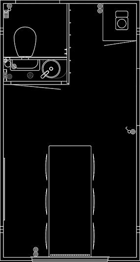 Skissetegning av 420 2dørs m/kvern