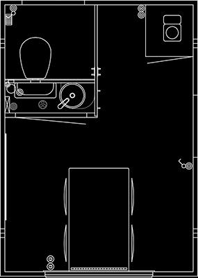 Skissetegning 320 2-dørs m/ kvern